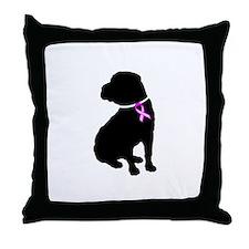 Shar Pei Breast Cancer Suppor Throw Pillow