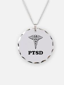 PTSD Alert Necklace Circle Charm