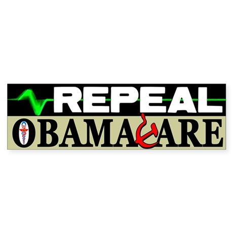 """Repeal Obamacare!"" Sticker (Bumpe"