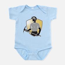 Coal Miner With Pick Ax Shiel Infant Bodysuit