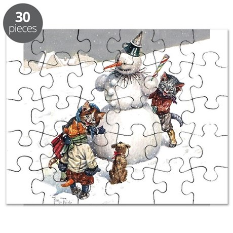 Cats in the Snow Puzzle