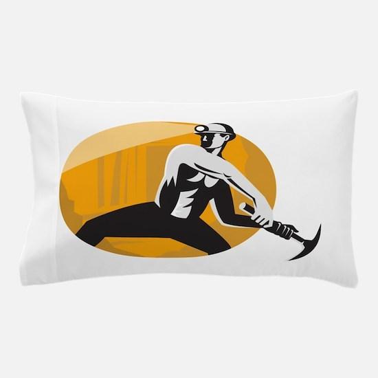Coal Miner With Pick Ax Strik Pillow Case