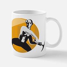 Coal Miner With Pick Ax Strik Mug