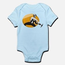 Coal Miner With Pick Ax Strik Infant Bodysuit
