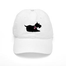 Schnauzer Silhouette Baseball Cap