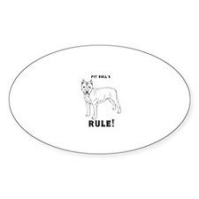 pit bulls RULE! Decal
