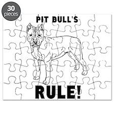pit bulls RULE! Puzzle