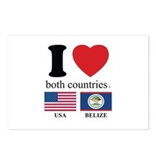 USA-BELIZE Postcards (Package of 8)