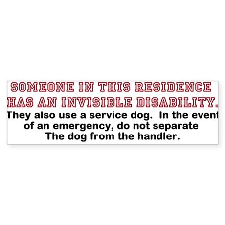 Service Dog in Residence Sticker (10 pk)