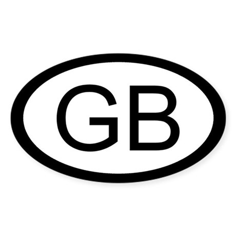 British Car Sticker / Decal (GB Oval)