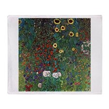 Gustav Klimt Garden with Sunflowers Stadium Blank