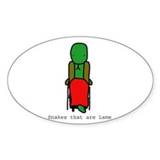 Snakes that are Lame Oval Decal