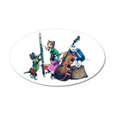 Jazz Cats Wall Decal
