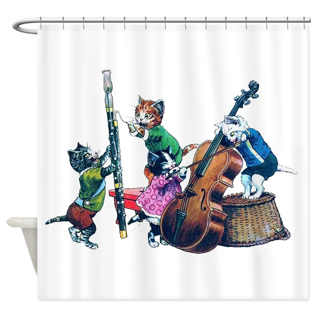 jazz cats shower curtain by rooseveltbears