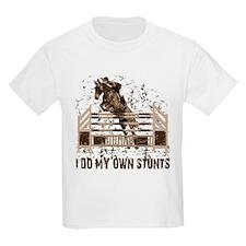Hunter, Jumper Horse Stunts Kids T-Shirt