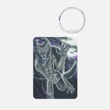 Unique Werewolf Aluminum Photo Keychain