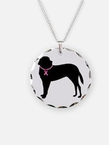 Saint Bernard Breast Cancer Support Necklace