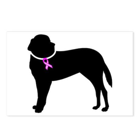 Saint Bernard Breast Cancer Support Postcards (Pac
