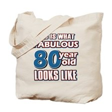 Cool 80 year old birthday designs Tote Bag