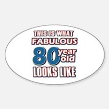Cool 80 year old birthday designs Decal