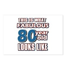 Cool 80 year old birthday designs Postcards (Packa