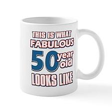 Cool 50 year old birthday designs Mug