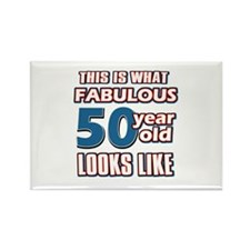 Cool 50 year old birthday designs Rectangle Magnet