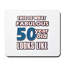 Cool 50 year old birthday designs Mousepad