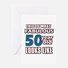 Cool 50 year old birthday designs Greeting Card
