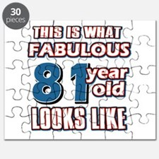 Cool 81 year old birthday designs Puzzle