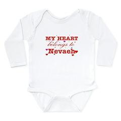 I love Nevaeh Long Sleeve Infant Bodysuit