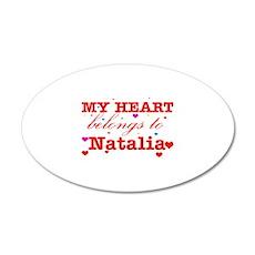 I love Natalia 22x14 Oval Wall Peel