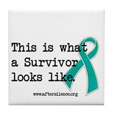 What a Survivor looks like Tile Coaster