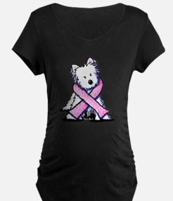 Pink Ribbon Westie T-Shirt