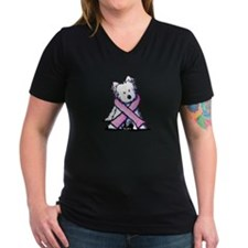 Pink Ribbon Westie Shirt