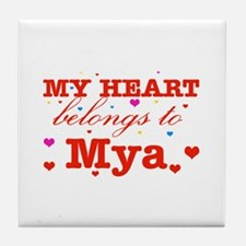I love Mya Tile Coaster
