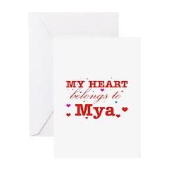 I love Mya Greeting Card
