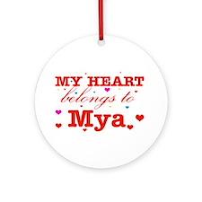 I love Mya Ornament (Round)