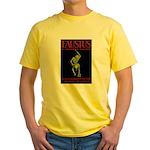 Christopher Marlowe Faustus Yellow T-Shirt