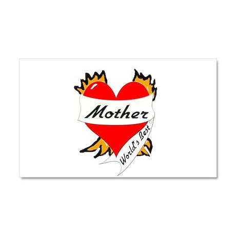 World's Best mom Tattoo Heart Car Magnet 20 x 12