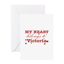I love Victoria Greeting Card