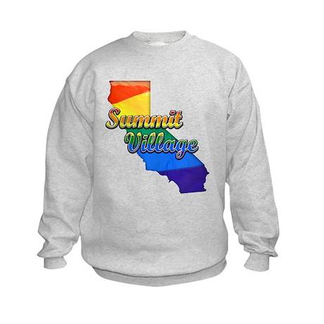 Summit Village, California. Gay Pride Kids Sweatsh