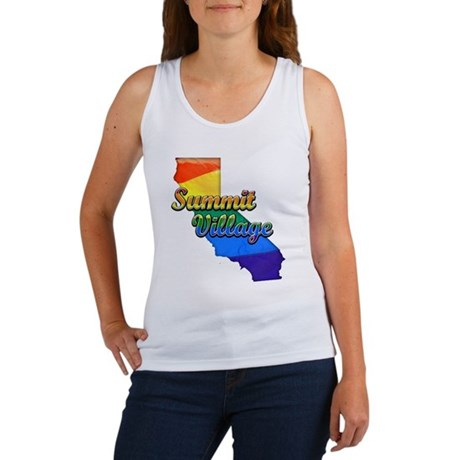 Summit Village, California. Gay Pride Women's Tank