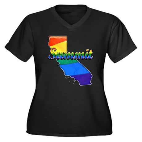 Summit, California. Gay Pride Women's Plus Size V-