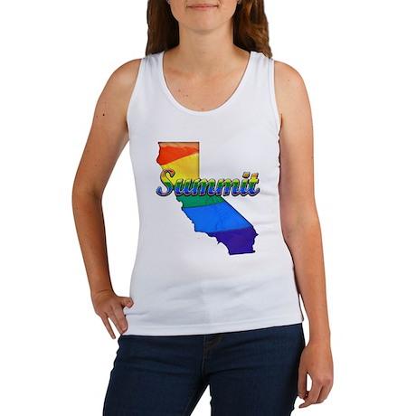 Summit, California. Gay Pride Women's Tank Top