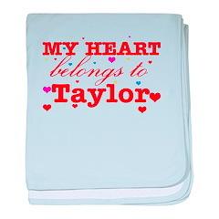 I love Taylor baby blanket