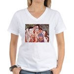 Klimt Motherhood Women's V-Neck T-Shirt