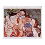 Klimt Motherhood Throw Blanket