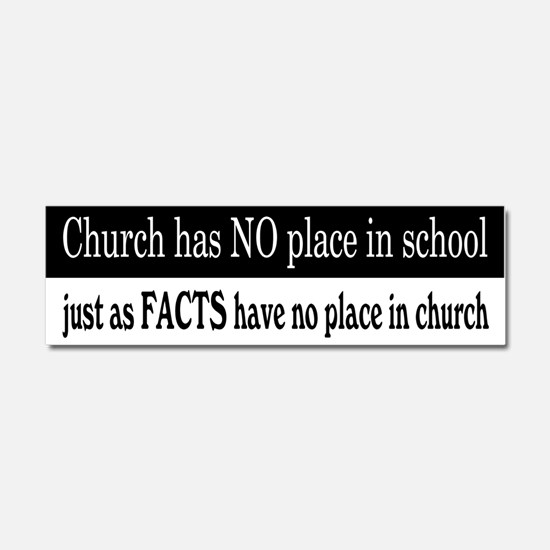 No Facts in Church Car Magnet 10 x 3