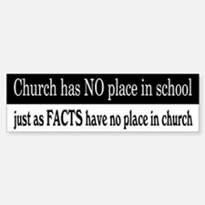No Facts in Church Stickers